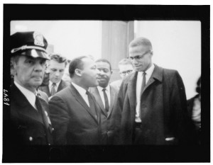Martin Luther King and Malcolm X together in 1964.