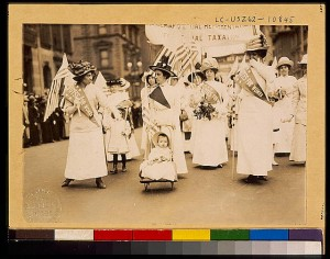 Youngest parader in New York City suffragist parade (c.1912).