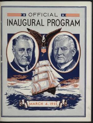 FDR Inaugural Program
