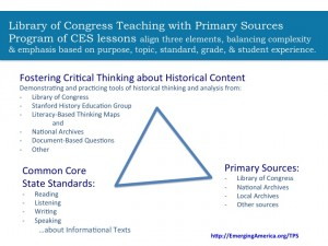 Triangle shows components of professional development.