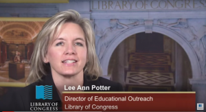 Screen Shot of Video showcasing Teacher Resources at Library of Congress