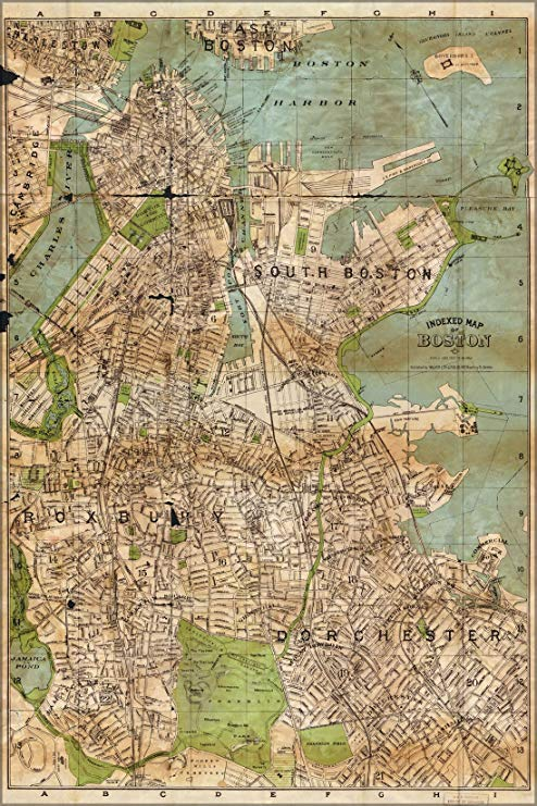 map of boston 1900