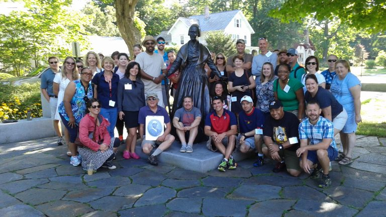 Forge of Innovation 2015 - Group Shot at Sojourner Truth Statue, Northampton