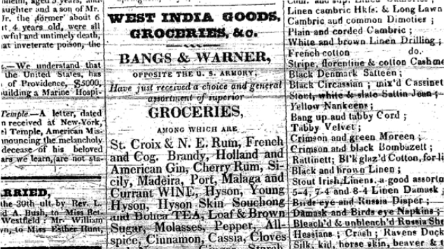 West India Goods Advertisement