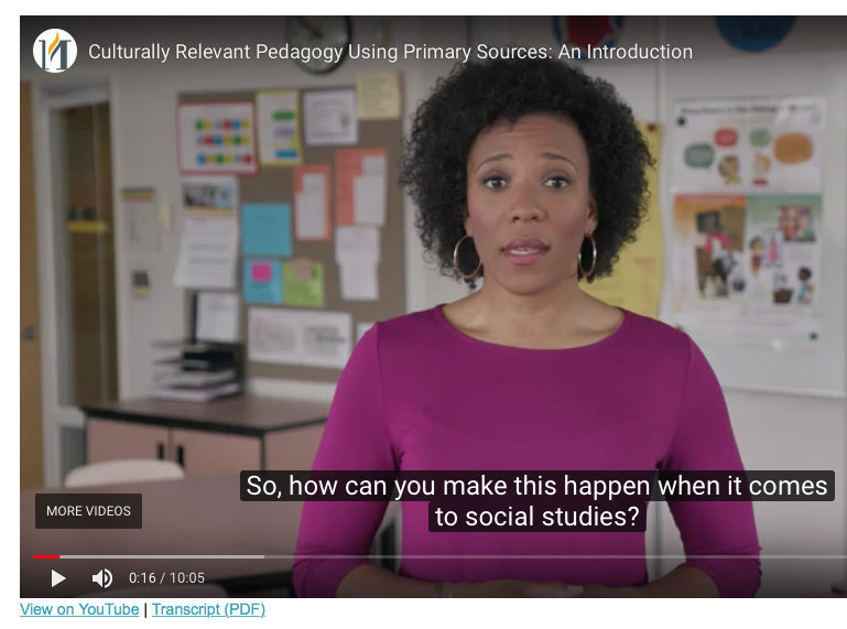 Culturally Relevant Pedagogy video introduction by professor