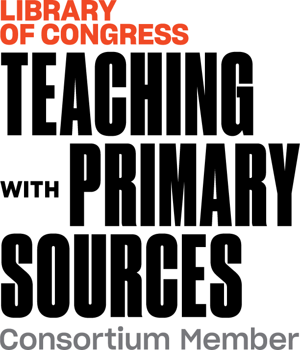 Logo states Library of Congress Teaching with Primary Sources Consortium Member.