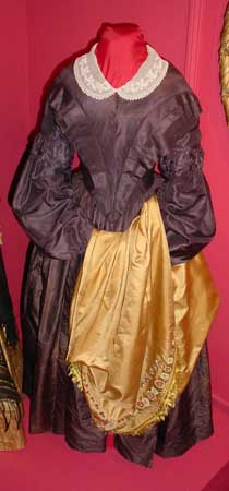 Dress made out of Northampton silk in the 1840s. Image courtesy of Historic Northampton.