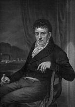 Black and white portrait of Robert Fulton