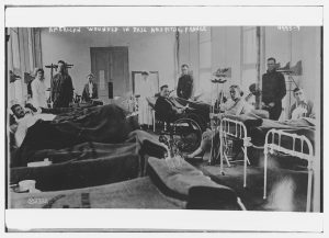 Wounded soldiers from World War I
