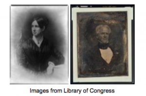 Portrait of Dorothea Dix and Horace Mann from the 1800s