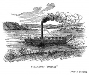 illustration of the steamboat Barnet